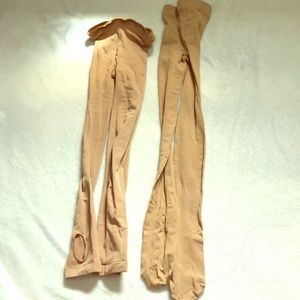 Never worn, soft tan tights (for dancers)